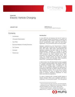 EV Charging - MUFG Low Carbon Series