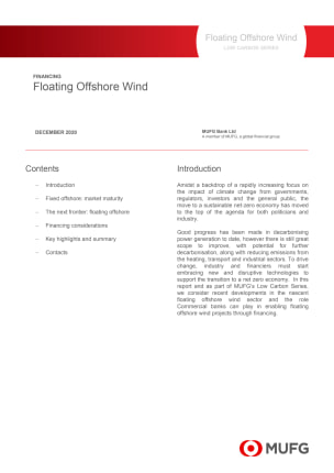 Floating Offshore Wind - MUFG Low Carbon Series