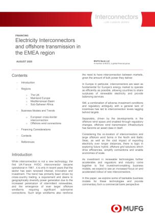Interconnectors - MUFG Low Carbon Series