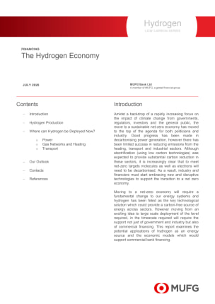 The Hydrogen Economy - MUFG Low Carbon Series
