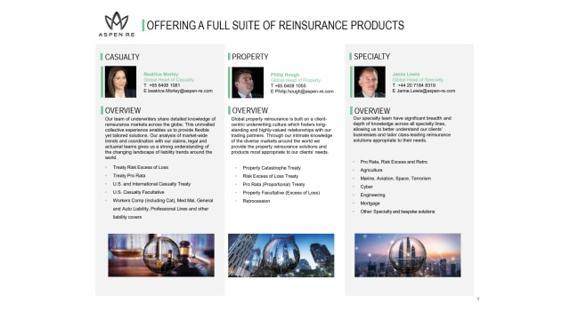 Aspen Re Product Solutions
