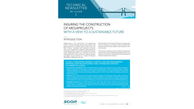 Insuring The Construction of Megaprojects With a View to a Sustainable Future
