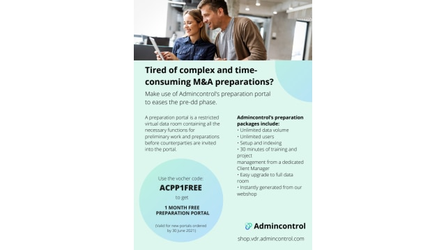 Tired of complex and timeconsuming M&A preparations?