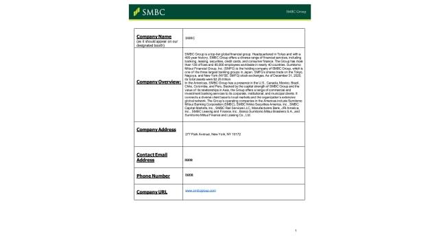 SMBC External Portal Form