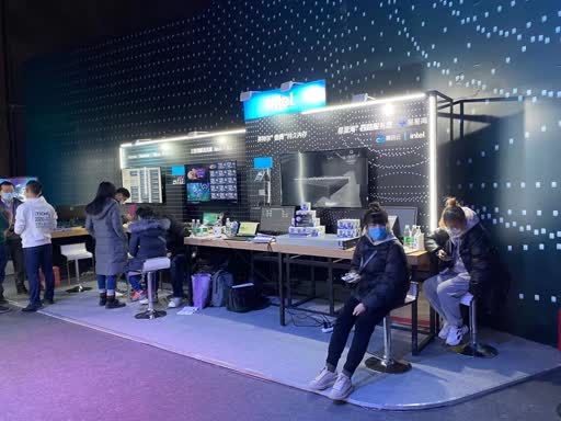 Intel 在 TECHO 的展台