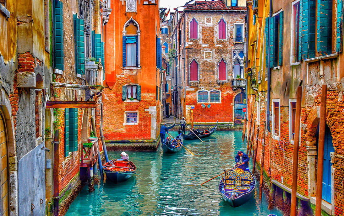 Venice's colourful waterways