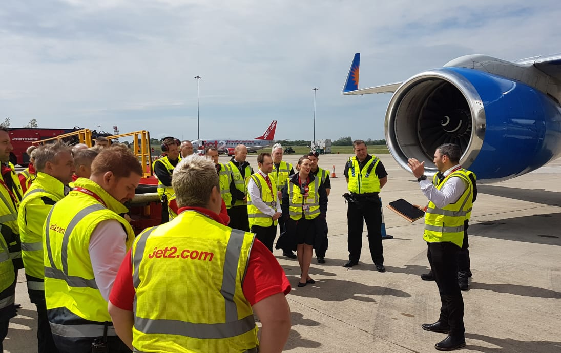 Airside driving and aircraft damage training