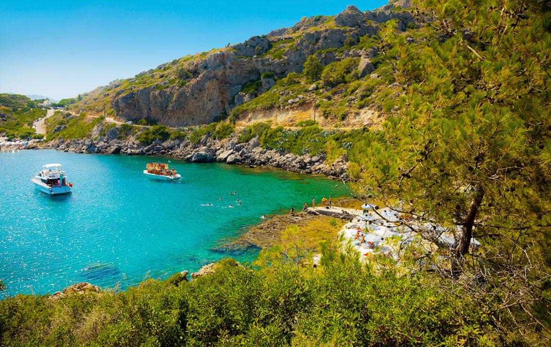 Seashore boat excursions on Rhodes