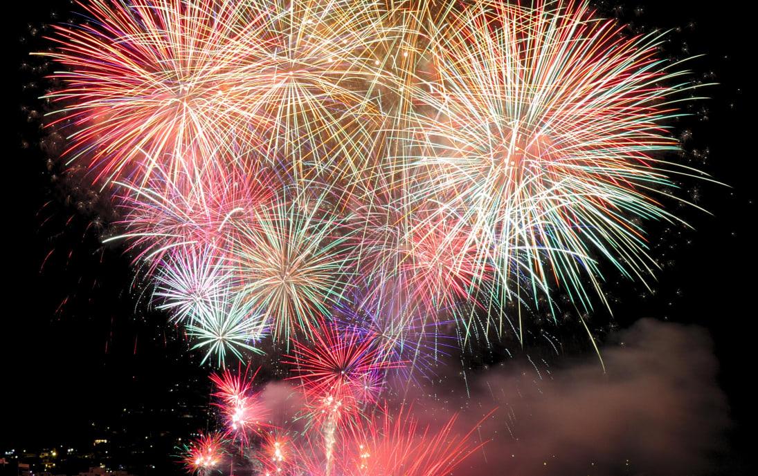 New Years celebratory fireworks in Madeira