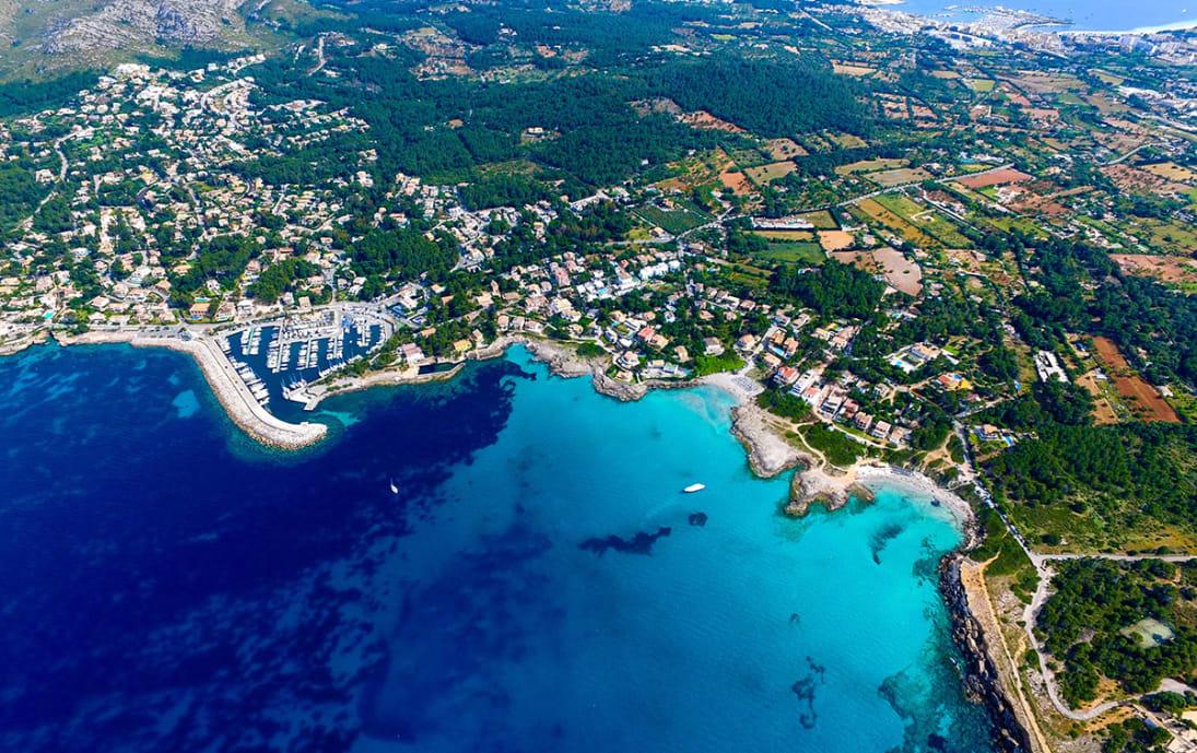 Birds Eye view of Majorca