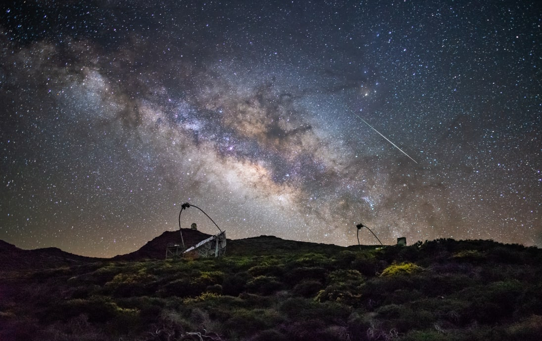 Milky Way at night on La Palma