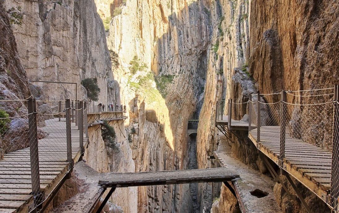 Caminito del Rey walkway in the Malaga region