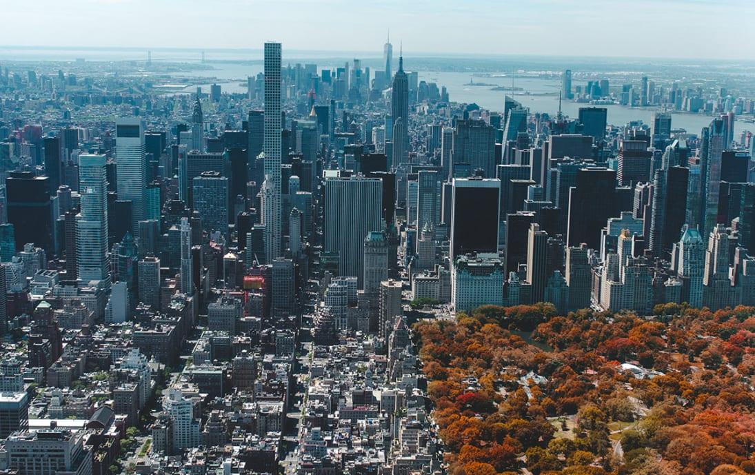 New York skyline and Central Park