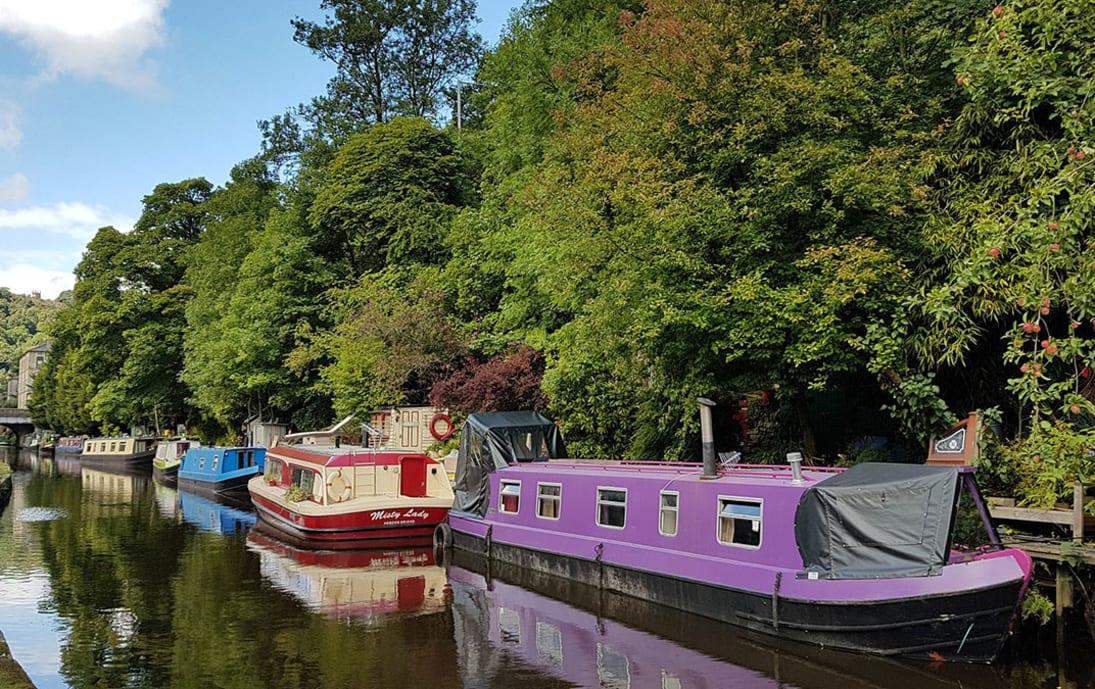 Canal into Hebden Bridge