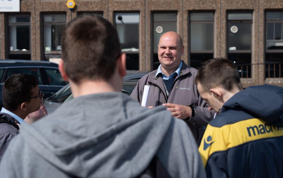 Mencap Supported Internship group tour at Leeds Bradford Airport