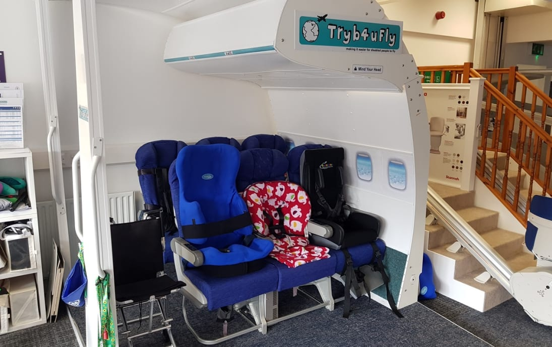 QEF Tryb4uFly cabin at William Merritt Disabled Living Centre