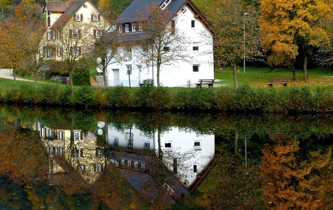 Baiersbronn on the river Murg