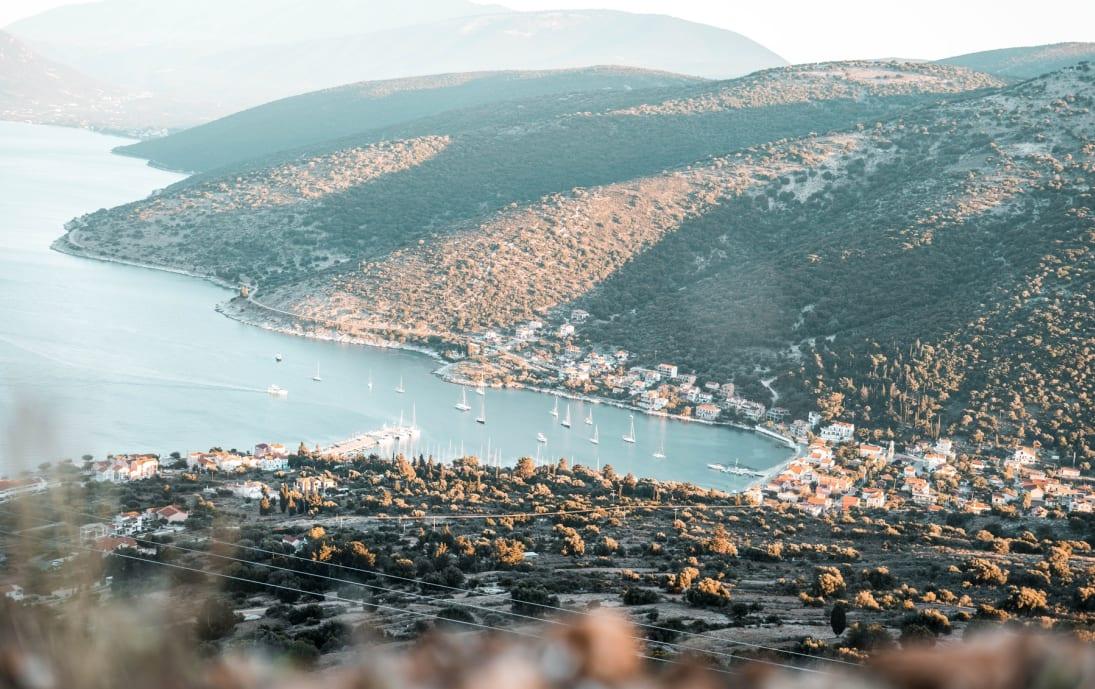 Agia Effimia Marina from Agios Mountains