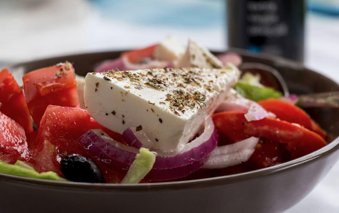 A delicious Greek Salad with feta