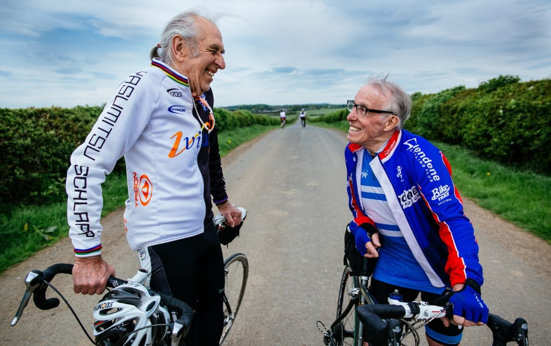 Two Yorkshire cyclists