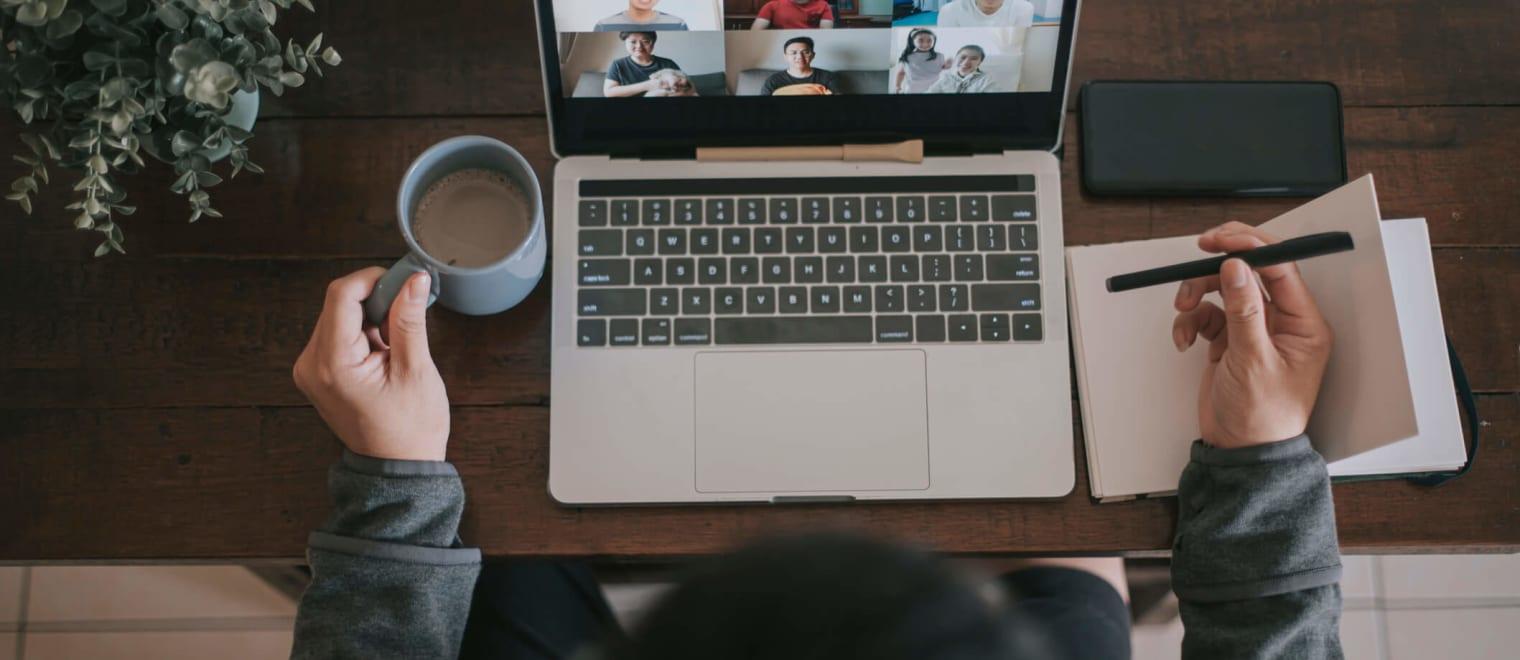 Virtually there: Setting boundaries in online meetings