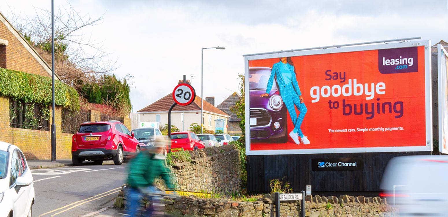 Billboard on a street corner