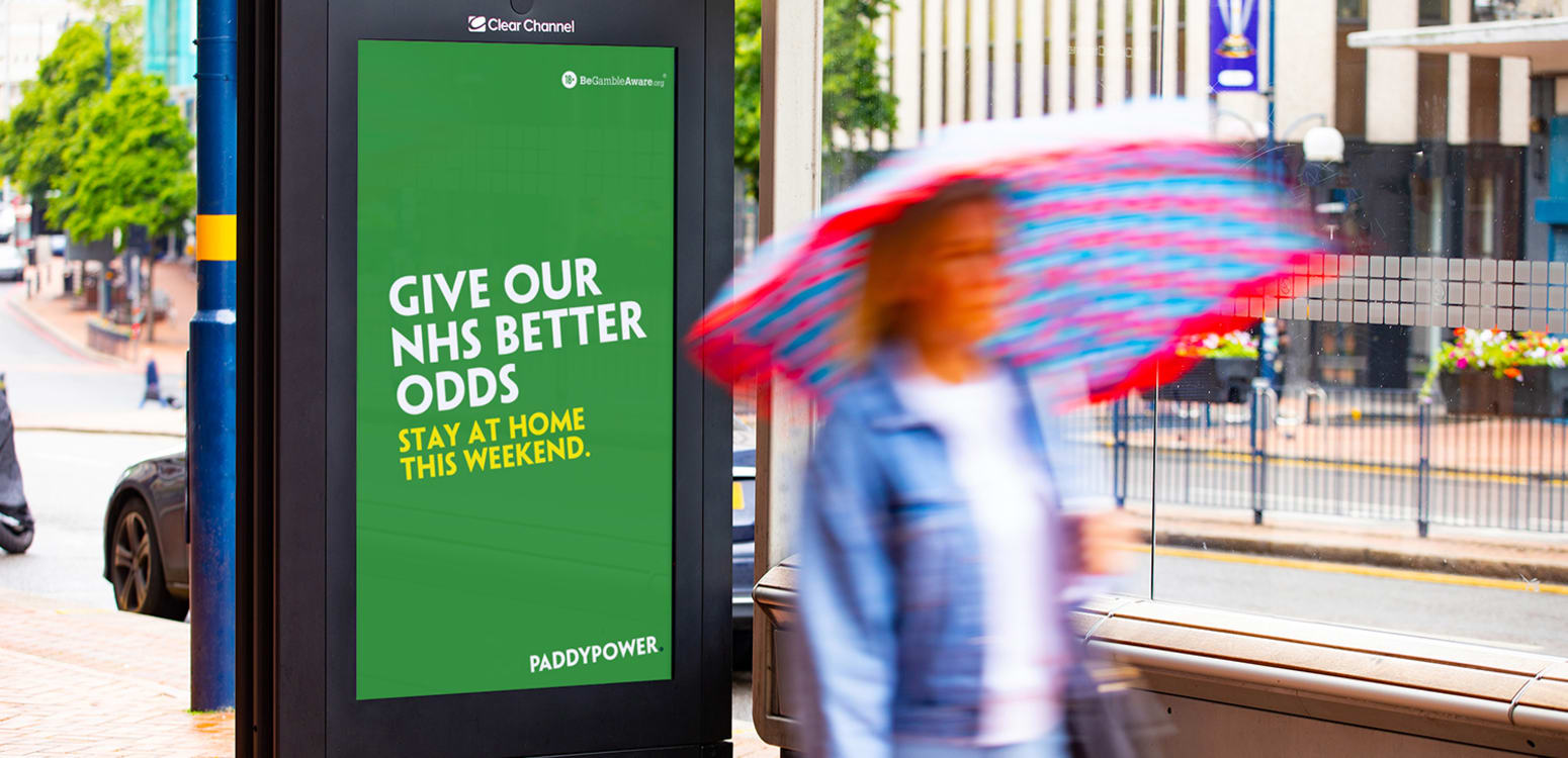 Paddy Power - Give our NHS better odds. Stay at home this weekend.
