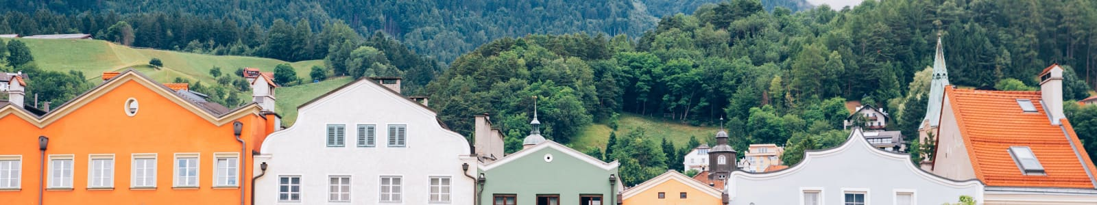 Innsbruck's colourful buildings