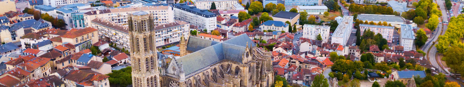 Aerial view of Limoges