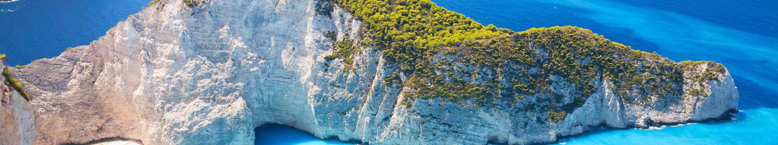 Smuggler's Cove on Zakynthos, Greece