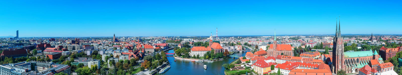Panorama of Wroclaw, Poland