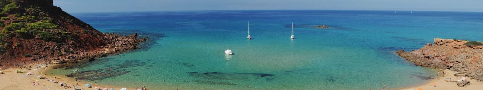 Relaxing Majorcan beach