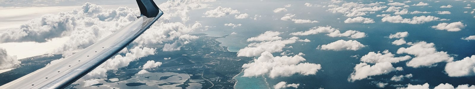 Flying over Bahamas