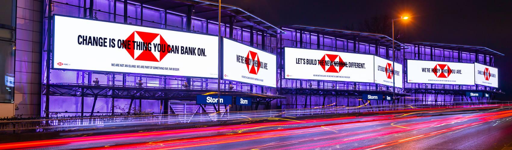 HSBC on Cromination at night