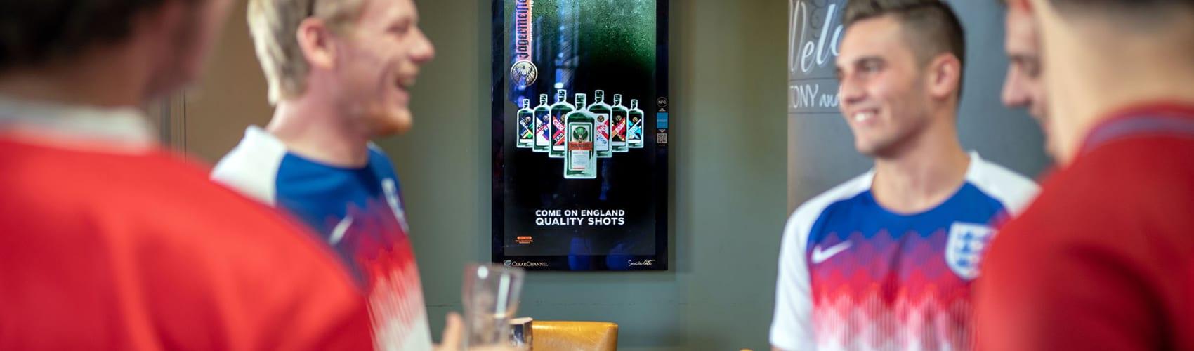 Socialite screen in a bar