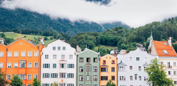 Innsbruck's colourful buildings
