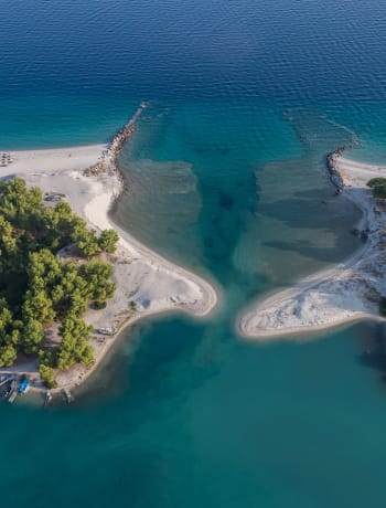 Halkidiki beaches from above