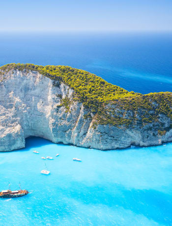 Smuggler's Cove on Zakynthos