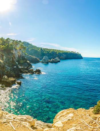 Remote Ibiza coastline