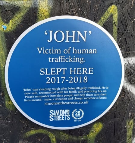 Blue Plaques for the Homeless