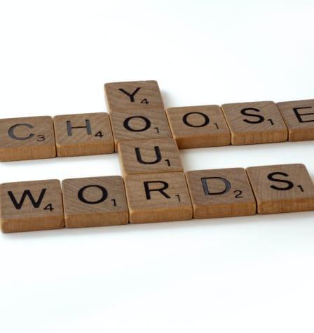 Scrabble letters spell