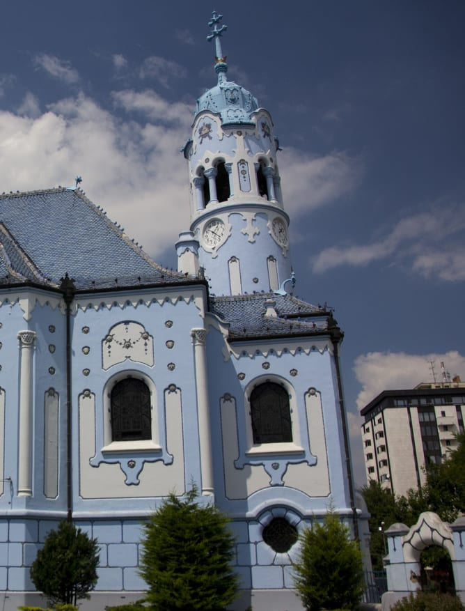 The Blue Church of Bratislava