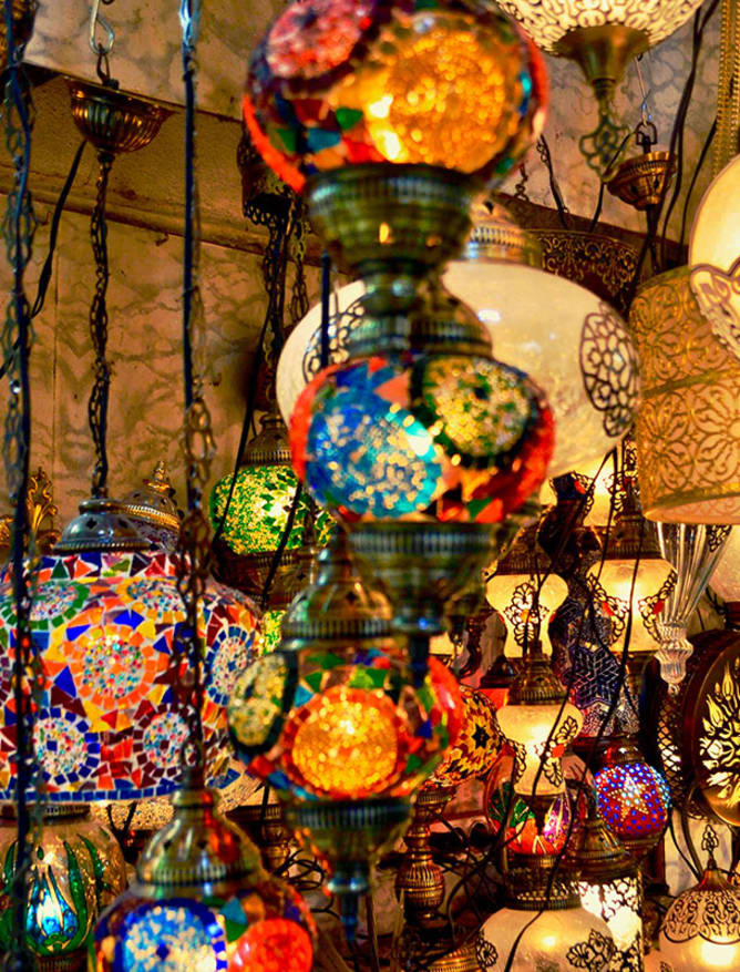 Colourful lanterns at the market