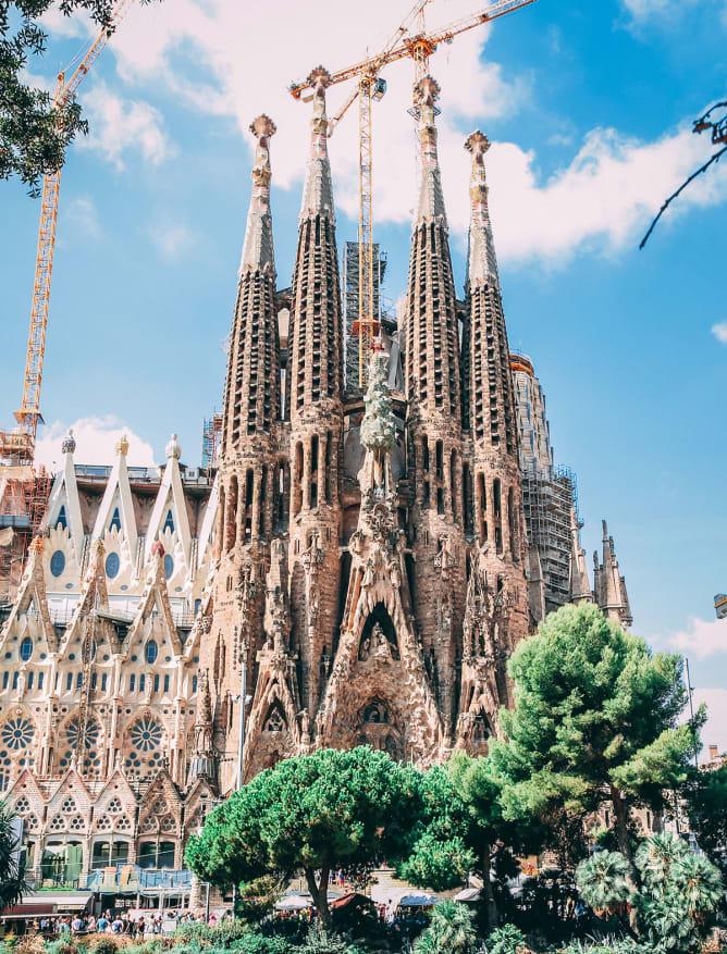 Sagrada Familia, designed by Gaudi