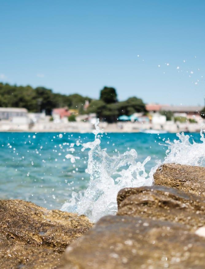 La Playa beach bar, Pula, Croatia