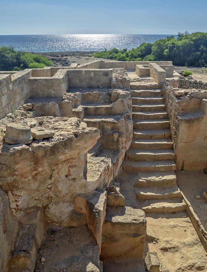 Seaside Paphos ruins