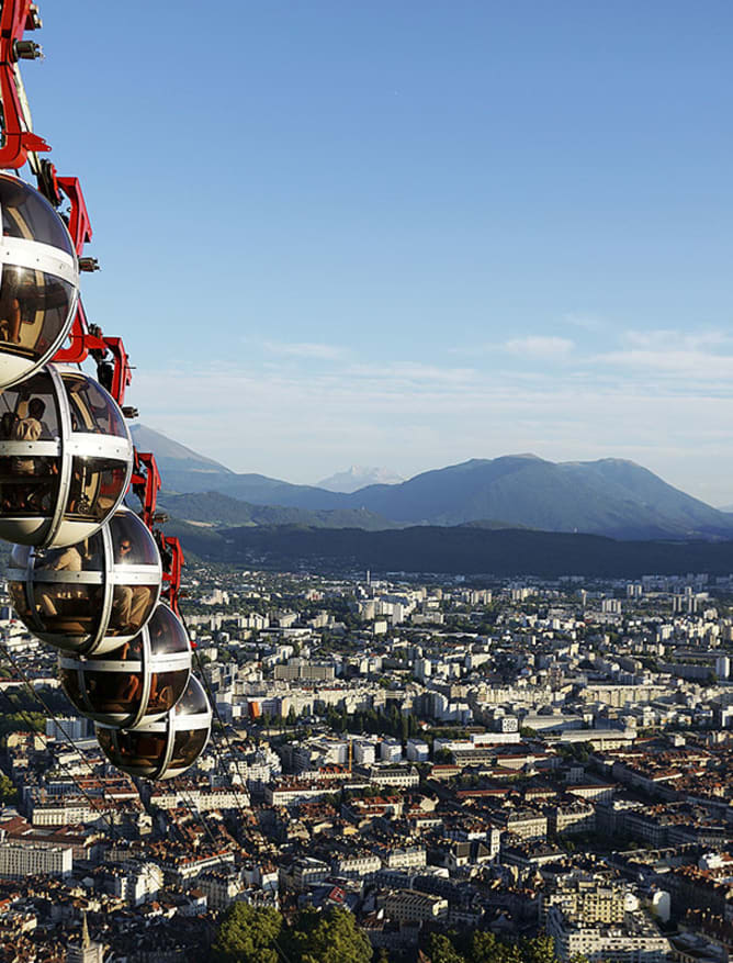 The Bastille Cable Car from Grenoble