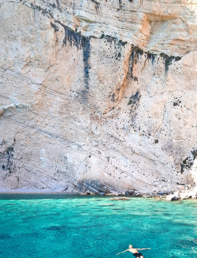 Floating in a Zante cove