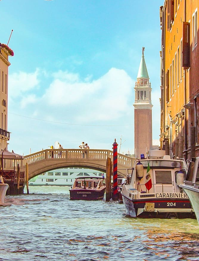 Sun shining on Venice