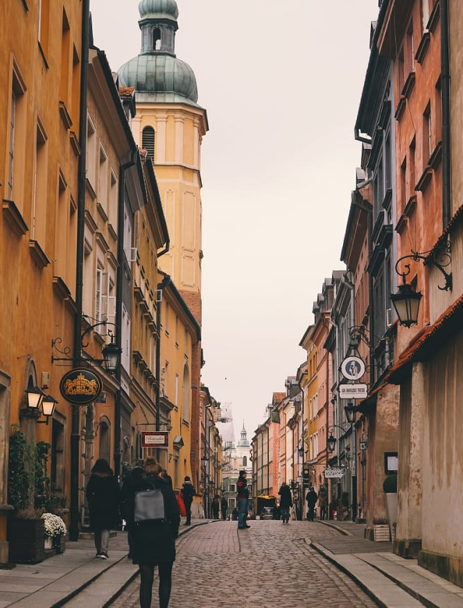 Old Town street, Warsaw